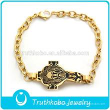 2017 populaire vente or Bracelet Design Jésus sur la Croix Noir Images