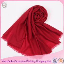 Top quality wholesale Plain color hijab fringe ladies scarf