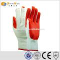 Трикотажная конструкция красная ладонь резиновые перчатки