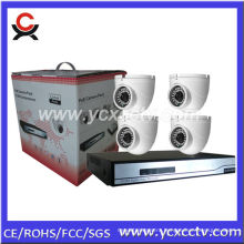 NVR Kit with 4 PCS IP Dome Cameras