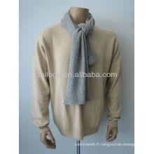 Écharpe en cachemire gris chiné