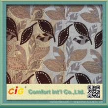 Tissu d'ameublement en jacquard en polyester 340GSM Custom 145cm Largeur