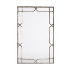 Espejo de pared enmarcado plata antiguo de la pared X-Quisite para la decoración casera