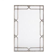Miroir de mur encadré par argent antique X-Quisite fini pour la décoration à la maison