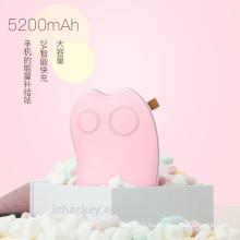 ICHECKEY Calentador de mano de gato lindo recargable 2 en 1 5200 mAh, batería de banco de energía de cargador portátil USB