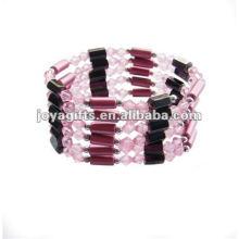 """Magnetische rosa Acryl Perlen verpacken Armbänder & Halskette 36 """""""