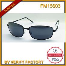 FM15603 populaire de haute qualité en acier inoxydable unisexe Polarized lunettes de soleil
