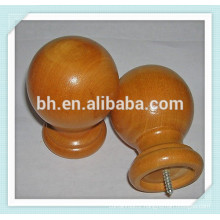 35mm America Hot Sell Walnut Ball Finial Wood Rod On Sale