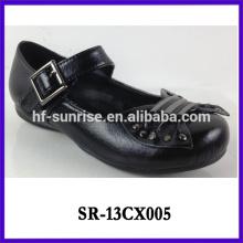 Neue stilvolle Mädchen Leder Schule Schuhe Mädchen schwarz Leder Schule Schuhe schwarze Schule Schuhe