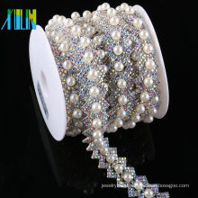 Factory Cheap Price Rhinestones Beads And Loose Plastic Pearl Strass Chain For Clothing
