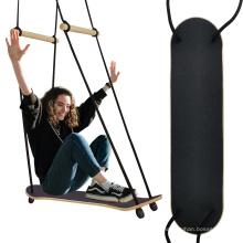 Детские игрушки Деревянные садовые качели для скейтборда