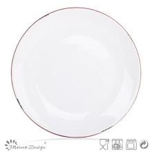 27cm Dinner Plate Glaze Peel Design with Colored Rim