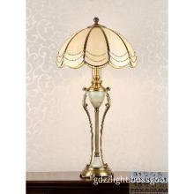 Classic Brass Desk Lamp with Glass Shade