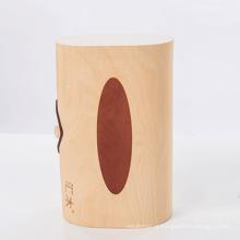 FQ marca tamanho diferente artesanato caixa de tecido de madeira