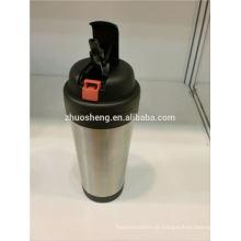 alta qualidade cerveja viagem caneca do silicone manga tampa, caneca de plástico para microondas