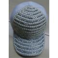 Fashion white baseball cap with diamond snapback Hip-hop Punk Snapback cap Men Women's Caps Baseball cap