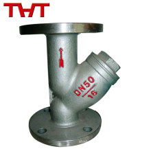 Durable stainless steel chinese large Y Type Filter with Flange End