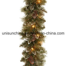 Pre-Lit guirnalda de pino espumoso con 100 claras luces incandescentes (MY205.446.00)