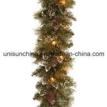 Gargantilha pré-iluminada de pinho com 100 luzes incandescentes claras (MY205.446.00)