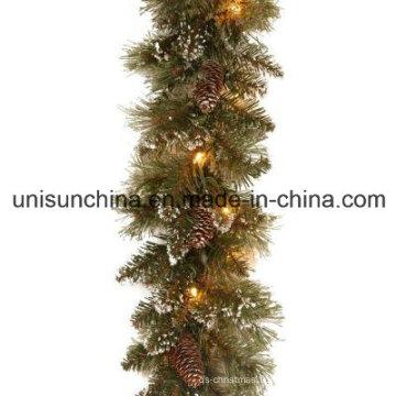 Guirlande de pin étincelante pré-allumée avec 100 lampes incandescentes claires (MY205.446.00)