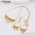 63609 Xuping gold plated jewelry sets wholesale  fashion 18k elegant earring and necklace gold plated jewelry sets