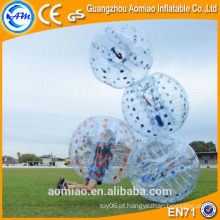 Gigante bola de amortecimento barriga inflável bola de bolha de futebol humano inflável