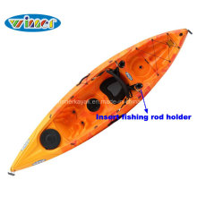 Single Sit on Top Recreational and Fishing Plastic Kayak