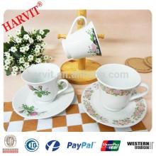 Proveedor de China Tazas de café al por mayor y platillos / tazas de té de porcelana y platillos