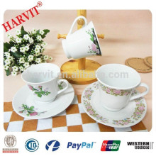 China Supplier Wholesale Coffee Cups And Saucers / Porcelaine Tea Cups And Saucers