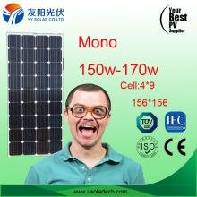 Yingli Trina Hot Cheap Mono Poly Solar Panel 150W 160W em estoque