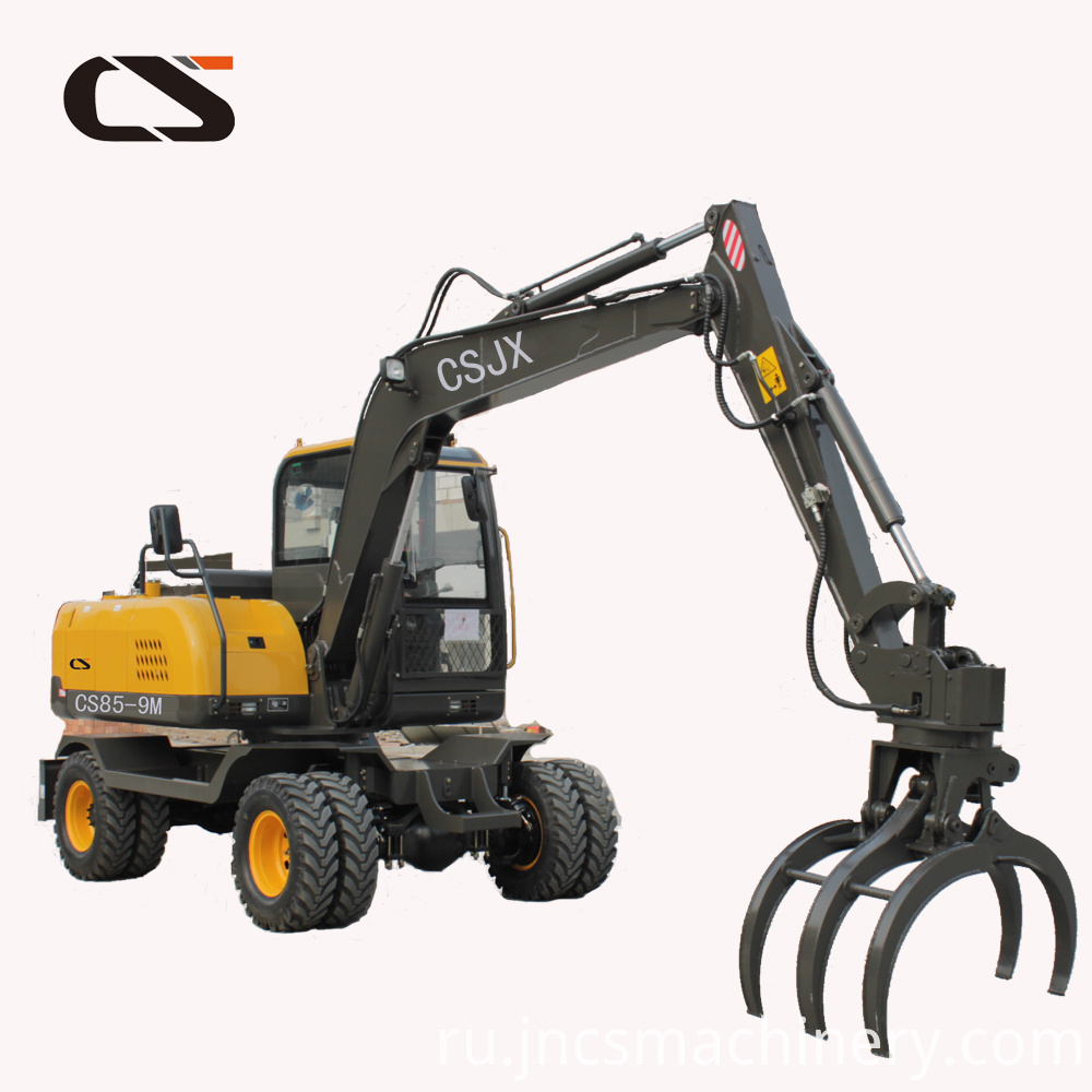 mini grapple machine wheel excavator1