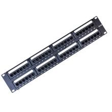 Высококачественная неэкранированная коммутационная панель Cat5e 48 портов
