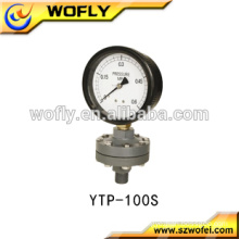 high quality dry bottom mounting 1/4 NPT co2 pressure gauge