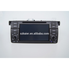 Quad core car gps navigation with wireless rearview camera,wifi,BT,mirror-link,DVR,Dual Zone,SWC for BMW E46