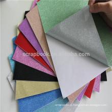 Cartão de papel/colorido brilho cardstock glitter prata