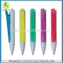 Plus populaire stylo en plastique de 2 en 1 multifonction avec grand clip