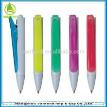 Mais populares 2 em 1 multi função caneta de plástico com grampo grande