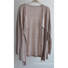 Ladies Long Sleeve Opean Patterned Knit Cardigan