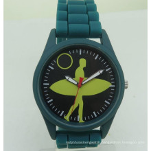 Custom OEM design cheap colorful silicone rubber watch