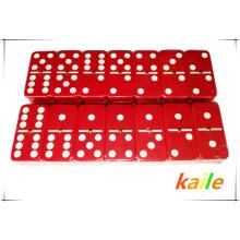 Double 6 pas cher en plastique domino coloré en gros