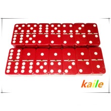 Double 6 cheap plastic colorful domino wholesale