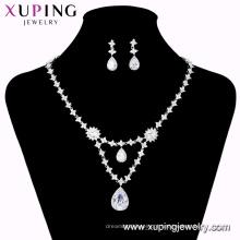 Conjunto-173 mulher xuping jóias de casamento diamante natural nupcial conjunto de jóias bijoux fantaisie