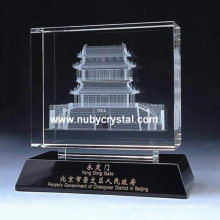 Regalo del recuerdo del edificio de Crystal Laser 3D