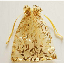 Champagne Organza Drawstring Pouches Suitable for Jewelry Party Wedding