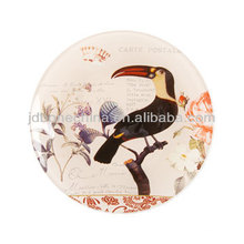 Colorido naturaleza mano pintura flor pájaro insectos porcelana hueso óvalo china mostrando cerámico Mostrar platos