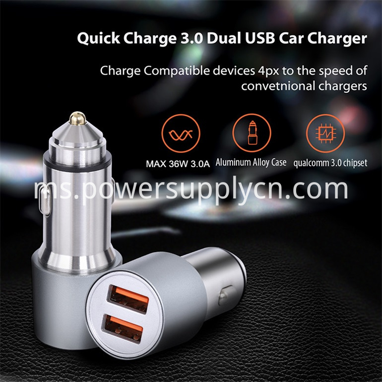 Car Charger For Iphone Samsung Huawei Xiaomi Smart Phone