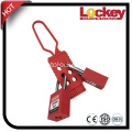 Red Safety Plastic Nylon Terisolasi Lockout Hasp
