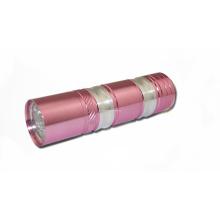 Lanterna elétrica cor-de-rosa UV da forma do diodo emissor de luz 9PCS