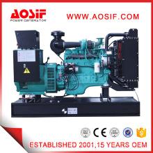 6 cilindros 100kw 125kVA tipo abierto generador de diesel conjunto CUMMINS