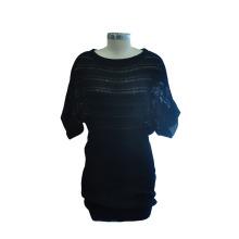 Мода с коротким рукавом пакет хип трикотажное платье